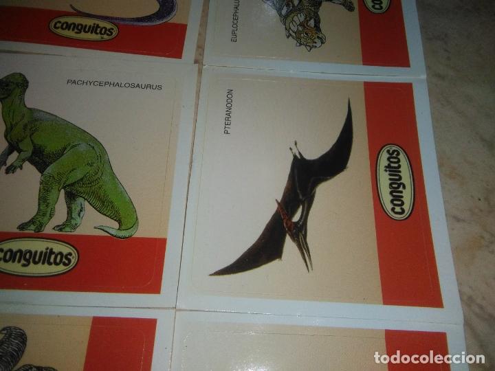 Coleccionismo Cromos antiguos: coleccion de CROMOS CONGUITOS DINOSAURIOS ADHESIVOS pegatinas premium - Foto 7 - 172467813