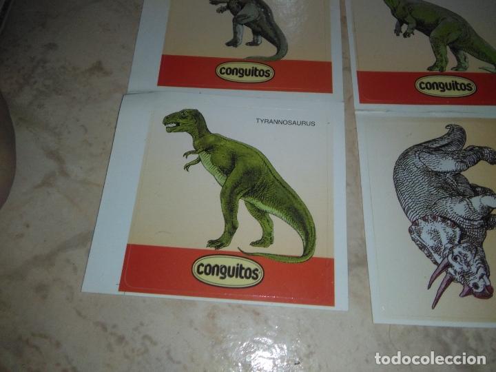 Coleccionismo Cromos antiguos: coleccion de CROMOS CONGUITOS DINOSAURIOS ADHESIVOS pegatinas premium - Foto 8 - 172467813