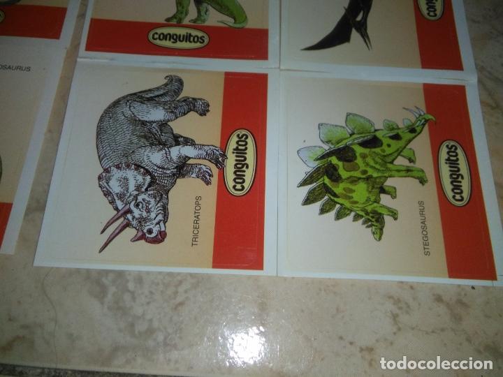 Coleccionismo Cromos antiguos: coleccion de CROMOS CONGUITOS DINOSAURIOS ADHESIVOS pegatinas premium - Foto 9 - 172467813