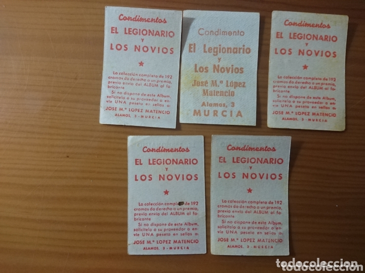 Coleccionismo Cromos antiguos: LOTE 5 CROMOS ATLÉTICO DE MADRID CONDIMENTOS EL LEGIONARIO Y LOS NOVIOS 1953-1954 SIN PEGAR - Foto 2 - 174047945