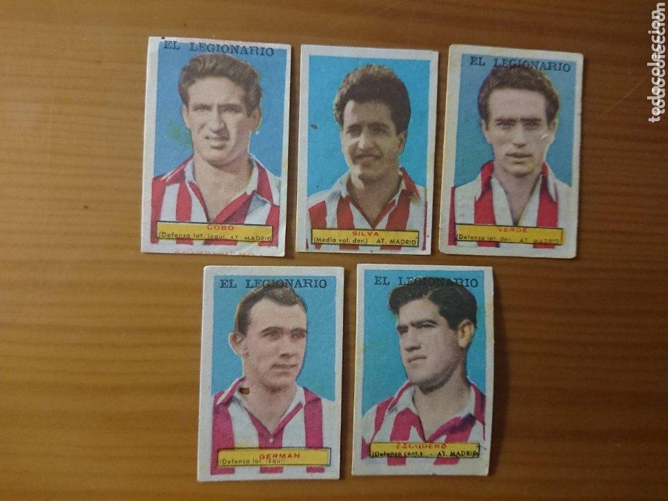 LOTE 5 CROMOS ATLÉTICO DE MADRID CONDIMENTOS EL LEGIONARIO Y LOS NOVIOS 1953-1954 SIN PEGAR (Coleccionismo - Cromos y Álbumes - Cromos Antiguos)