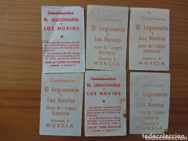 Coleccionismo Cromos antiguos: LOTE 6 CROMOS DEPORTIVO DE LA CORUÑA CONDIMENTOS EL LEGIONARIO Y LOS NOVIOS 1953-1954 SIN PEGAR - Foto 2 - 174151672