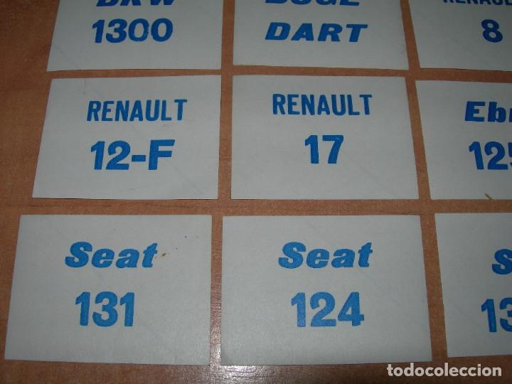 Coleccionismo Cromos antiguos: LOTE DE 16 RAROS CROMOS PREMIO DE CHICLES MARCAS DE COCHES AÑOS 70 / 80 - SEAT 131, 124, RENAULT... - Foto 3 - 221480922