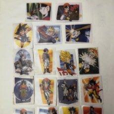 Coleccionismo Cromos antiguos: 17 CROMOS PEGA TELAS DRAGON BALL GT DE CHICLES BOOMER AÑO 1996. Lote 175734152