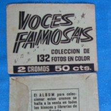 Coleccionismo Cromos antiguos: SOBRE DE CROMOS SIN ABRIR. VOCES FAMOSAS. IBERO MUNDIAL DE EDICIONES.. Lote 176391150