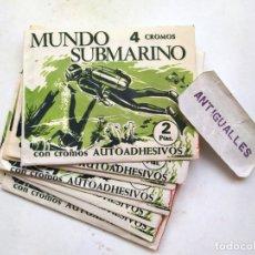 Coleccionismo Cromos antiguos: 10 SOBRES CROMOS MUNDO SUBMARINO-BALLGRAF-AÑO 1974-NO EDICIONES ESTE,PANINI.. Lote 176490338