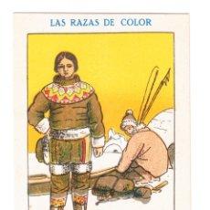Coleccionismo Cromos antiguos: LAS RAZAS DE COLOR AÑOS 30-40 AMATLLER GROENLANDESES. Lote 176509912