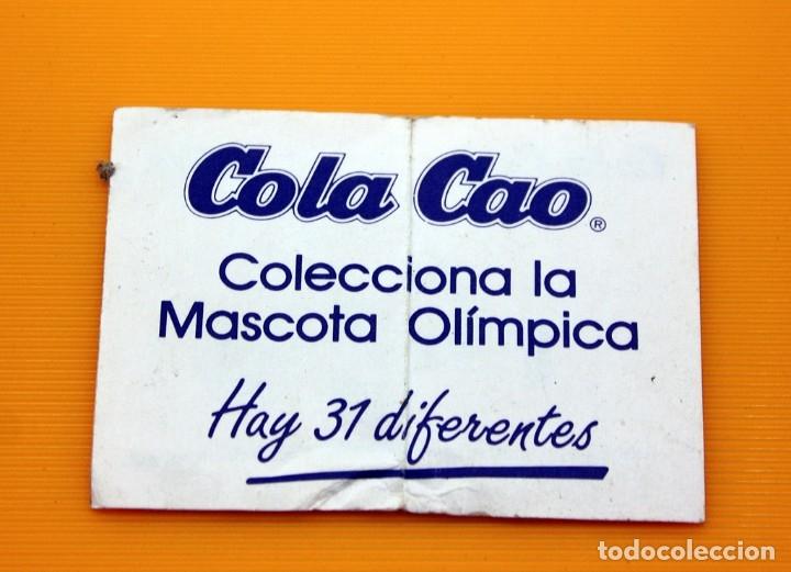 Coleccionismo Cromos antiguos: COLA CAO - COBI - MASCOTA OLIMPICA - 1988 - NUNCA PEGADO, CON TRASERA - COLACAO - Foto 2 - 176770907
