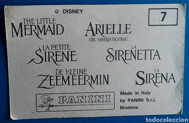 Coleccionismo Cromos antiguos: Cromo pegatina la sirenita 7 panini - Foto 2 - 176894029