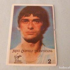 Coleccionismo Cromos antiguos: CROMO DE MIKE OLDFIELD SIN PEGAR Nº 130 AÑO 1982 DEL ALBUM SHOW DE ESTRELLAS DE MAGA. Lote 245949405