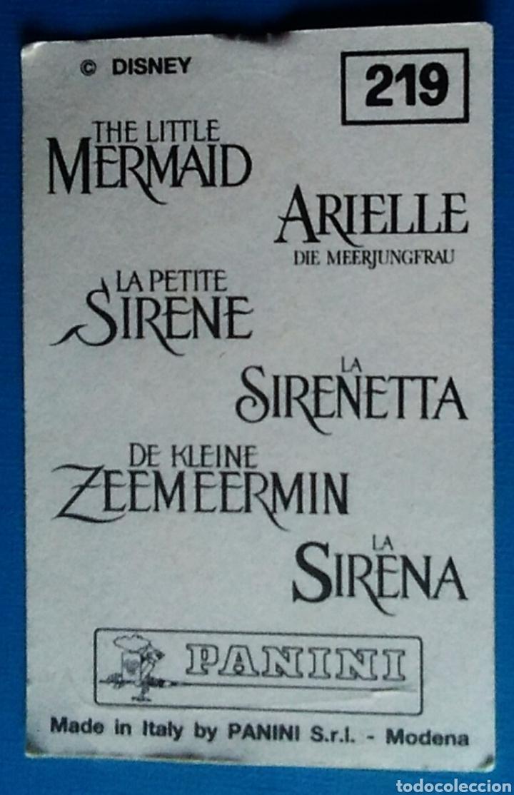 Coleccionismo Cromos antiguos: Cromo pegatina la sirenita 219 Disney panini - Foto 2 - 177582315
