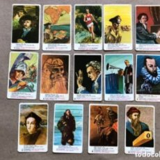 Coleccionismo Cromos antiguos: LOTE DE 13 TARJETAS HOMBRES FAMOSOS. QUESOS MILKANA 1969. 5,7 X 9,3 CMS.. Lote 178630650