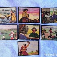 Coleccionismo Cromos antiguos: CROMO - LOTE 7 CROMOS - AVENTURAS DE BUFFALO BILL - OBSEQUIO DE FÁBRICA DE TABACOS FAVORITA. Lote 178686075