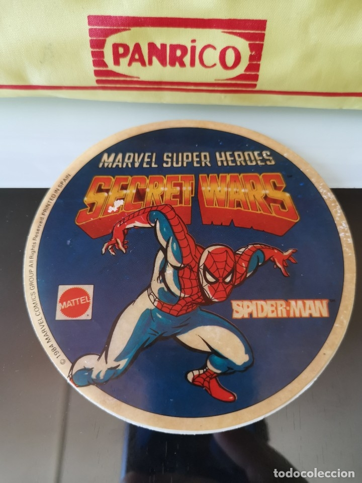 PEGATINA CROMO MATTEL VINTAGE SUPER HEROES SECRET WARS SPIDERMAN (Coleccionismo - Cromos y Álbumes - Cromos Antiguos)