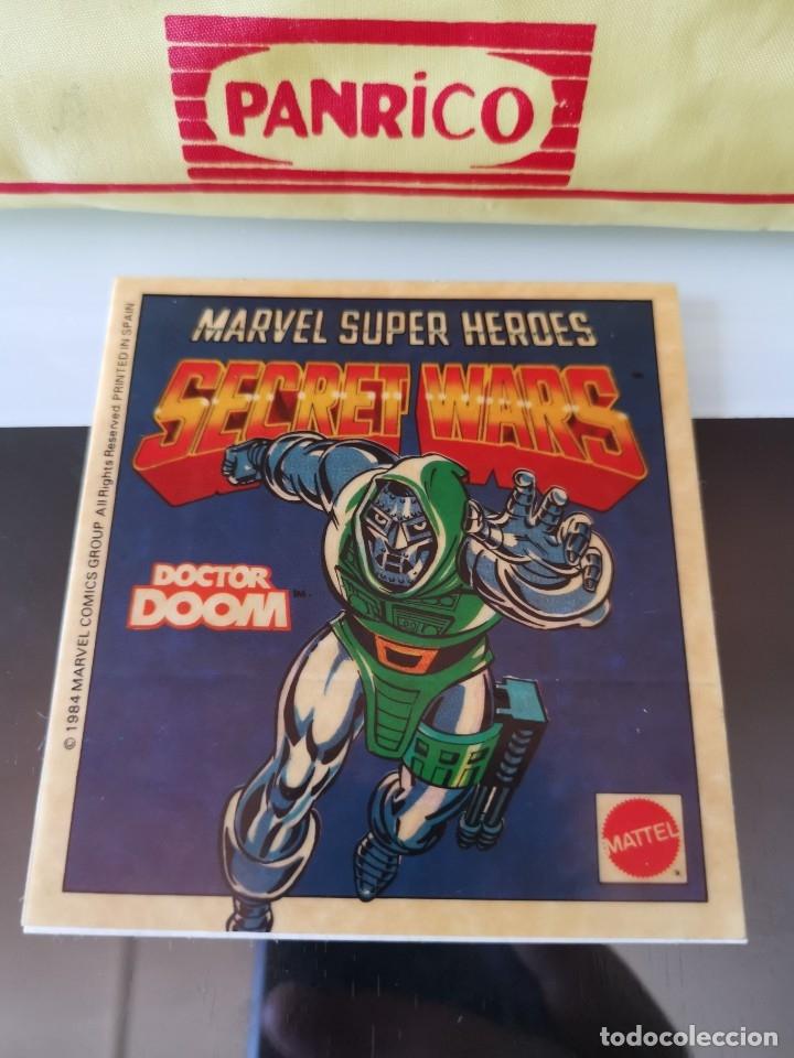 PEGATINA CROMO MATTEL VINTAGE SUPER HEROES SECRET WARS DR DOOM (Coleccionismo - Cromos y Álbumes - Cromos Antiguos)