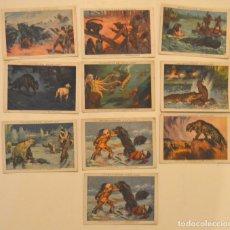 Coleccionismo Cromos antiguos: GRANDES CACERIAS - LOTE 10 CROMOS - SEGRELLES - CHOCOLATES AMETLLER. Lote 179542008