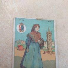 Coleccionismo Cromos antiguos: CROMO TIPOS REGIONALES N°27 MADRID - VALE 25 PUNTOS LIBRERÍA ESCOLAR - VALENCIA -. Lote 180027201