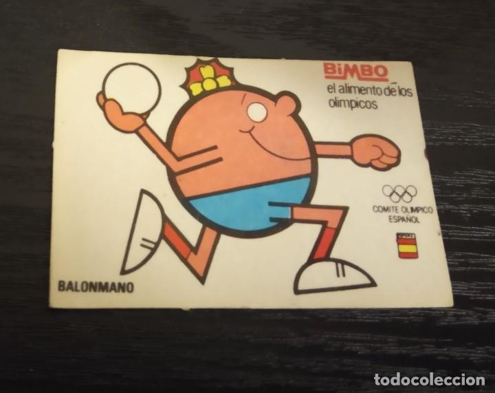 -BIMBO EL ALIMENTO DE LOS OLIMPICOS AÑOS 80 : BALONMANO (Coleccionismo - Cromos y Álbumes - Cromos Antiguos)