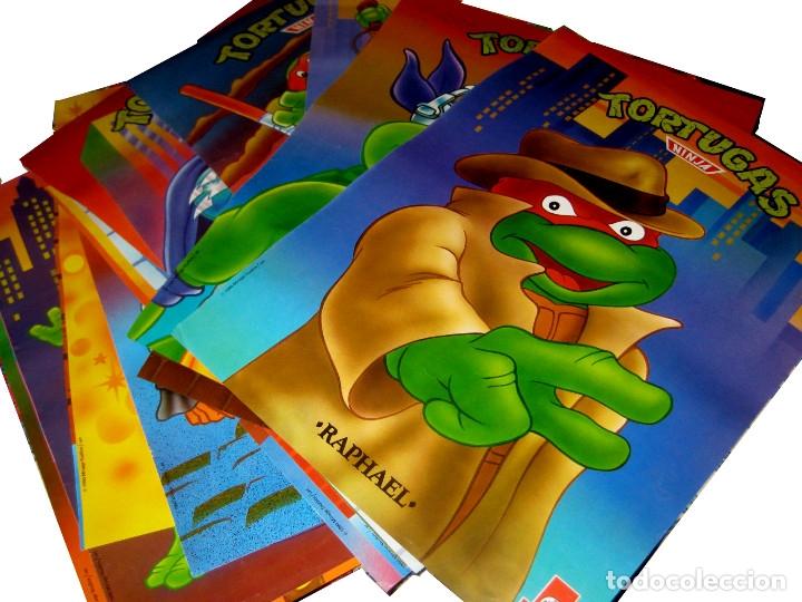 COLECCIÓN COMPLETA DE 16 PÓSTER TORTUGAS NINJA 1990 - MATUTANO. (Coleccionismo - Cromos y Álbumes - Cromos Antiguos)