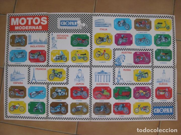 COLECCIÓN COMPLETA DE 33 CROMOS ''MOTOS MODERNAS'' DE CROPÁN. (Coleccionismo - Cromos y Álbumes - Cromos Antiguos)