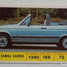Coleccionismo Cromos antiguos: CROMO DIDEC Nº 131 TALBOT SAMBA CABRIO. Lote 180312341