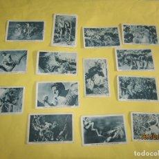Coleccionismo Cromos antiguos: ANTIGUO LOTE DE 14 CROMOS COLECCIÓN TARZAN OBSEQUIO DE CUPONES *LA ACCIÓN* DE TARRAGONA. Lote 180402205