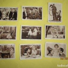 Coleccionismo Cromos antiguos: ANTIGUO LOTE DE 9 CROMOS LA PEQUEÑA CORONELA CON SHIRLEY TEMPLE DE CUPONES *LA ACCIÓN* DE TARRAGONA. Lote 180403225