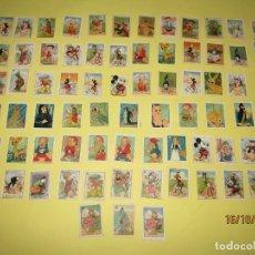 Coleccionismo Cromos antiguos: ANTIGUO LOTE DE 74 CROMOS LITOGRAFIADOS CON PERSONAJES DE LOS DIBUJOS ANIMADOS - AÑO 1930-40S.. Lote 180424195