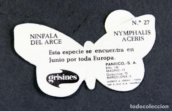 Coleccionismo Cromos antiguos: Cromo álbum Mariposas Panrico nº 27 Ninfala del Arce - Foto 2 - 180477882