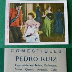 Coleccionismo Cromos antiguos: CROMOS ARTISTAS Y PELICULAS,TAMAÑO 6,5X8,5 CMS APROXIMADAMENTE PUBLICIDAD AL DORSO. Lote 180513118