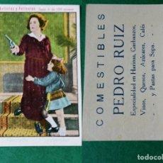 Coleccionismo Cromos antiguos: CROMOS ARTISTAS Y PELICULAS,TAMAÑO 6,5X8,5 CMS APROXIMADAMENTE PUBLICIDAD AL DORSO. Lote 180513151