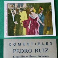 Coleccionismo Cromos antiguos: CROMOS ARTISTAS Y PELICULAS,TAMAÑO 6,5X8,5 CMS APROXIMADAMENTE PUBLICIDAD AL DORSO. Lote 180513437
