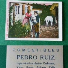 Coleccionismo Cromos antiguos: CROMOS ARTISTAS Y PELICULAS,TAMAÑO 6,5X8,5 CMS APROXIMADAMENTE PUBLICIDAD AL DORSO. Lote 180513742
