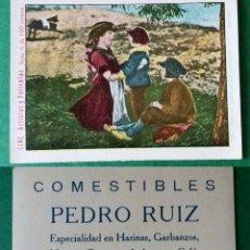 Coleccionismo Cromos antiguos: CROMOS ARTISTAS Y PELICULAS,TAMAÑO 6,5X8,5 CMS APROXIMADAMENTE PUBLICIDAD AL DORSO. Lote 180513971