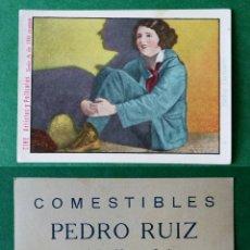 Coleccionismo Cromos antiguos: CROMOS ARTISTAS Y PELICULAS,TAMAÑO 6,5X8,5 CMS APROXIMADAMENTE PUBLICIDAD AL DORSO. Lote 180514047