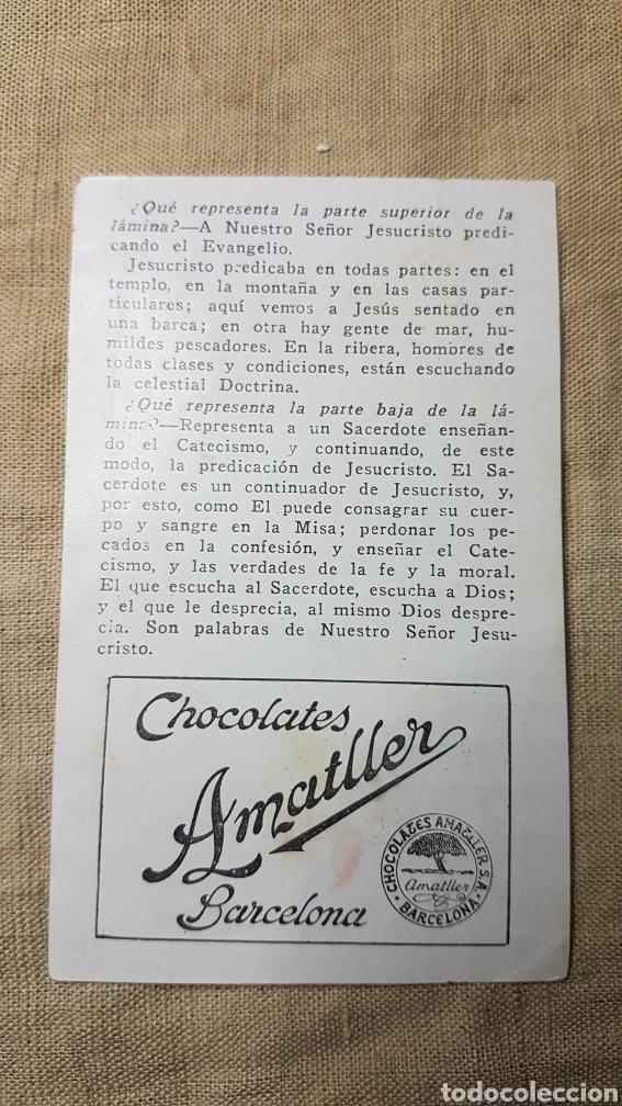 Coleccionismo Cromos antiguos: Cromo religioso 5 chocolate amatller - Foto 2 - 180893725