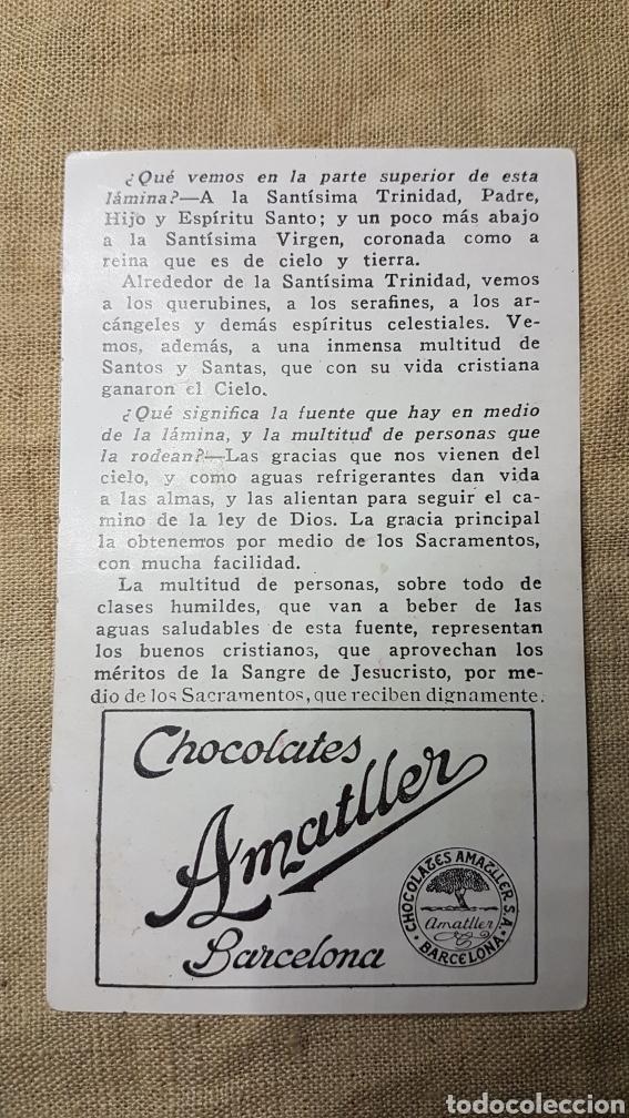 Coleccionismo Cromos antiguos: Cromo religioso 22 chocolate amatller - Foto 2 - 180893802