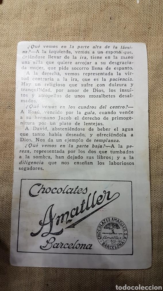 Coleccionismo Cromos antiguos: Cromo religioso 49 chocolate amatller - Foto 2 - 180893951