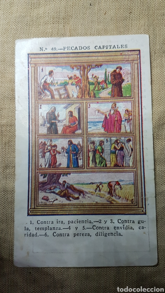 CROMO RELIGIOSO 49 CHOCOLATE AMATLLER (Coleccionismo - Cromos y Álbumes - Cromos Antiguos)