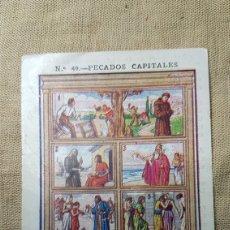 Coleccionismo Cromos antiguos: CROMO RELIGIOSO 49 CHOCOLATE AMATLLER. Lote 180893951