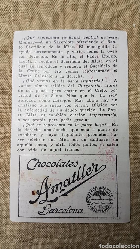 Coleccionismo Cromos antiguos: Cromo religioso 56 chocolate amatller - Foto 2 - 180894085