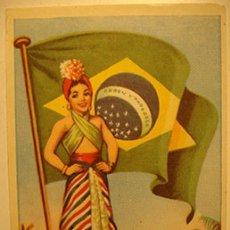 Coleccionismo Cromos antiguos: CROMO ALBUM BANDERAS DEL UNIVERSO DE BRUGUERA COLEC. 128 CROMOS NUMERO 52 (NUEVO). Lote 181226042
