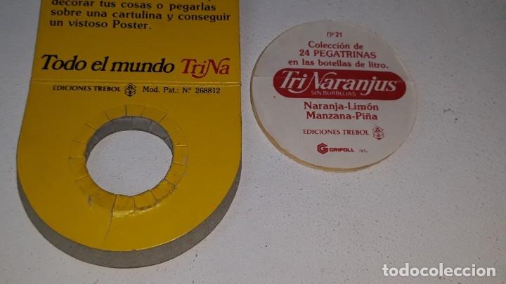 Coleccionismo Cromos antiguos: ANTIGUO CROMO Nº 21 TRINARANJUS - PEGATRINA CON SU FUNDA - TODO EL MUNDO TRINA - AÑOS 80 ED. TREBOL - Foto 4 - 181444201
