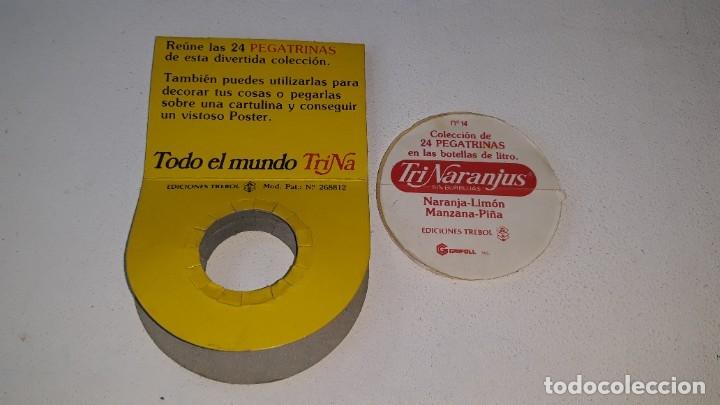 Coleccionismo Cromos antiguos: ANTIGUO CROMO Nº 14 TRINARANJUS - PEGATRINA CON SU FUNDA - TODO EL MUNDO TRINA - AÑOS 80 ED. TREBOL - Foto 3 - 181444561
