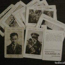 Coleccionismo Cromos antiguos: RAID ESPAÑA ARGENTINA-RAMON FRANCO-COL·COMPLETA 21 CROMOS-CHOCOLATES EDUARDO PI-VER FOTOS-(V-17.947). Lote 181609237