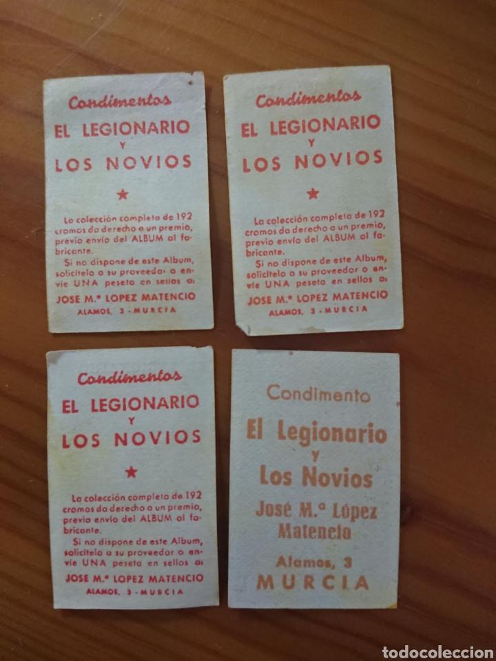 Coleccionismo Cromos antiguos: LOTE 4 CROMOS BARCELONA CONDIMENTOS EL LEGIONARIO Y LOS NOVIOS 1953-1954 SIN PEGAR - Foto 2 - 181694536