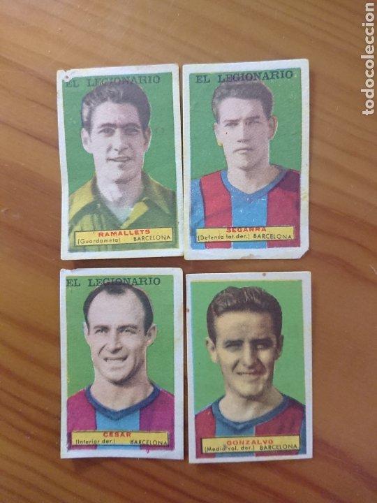 LOTE 4 CROMOS BARCELONA CONDIMENTOS EL LEGIONARIO Y LOS NOVIOS 1953-1954 SIN PEGAR (Coleccionismo - Cromos y Álbumes - Cromos Antiguos)