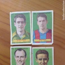 Coleccionismo Cromos antiguos: LOTE 4 CROMOS BARCELONA CONDIMENTOS EL LEGIONARIO Y LOS NOVIOS 1953-1954 SIN PEGAR. Lote 181694536
