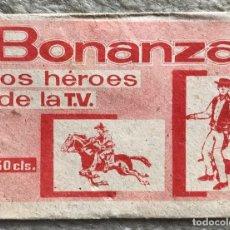 Coleccionismo Cromos antiguos: SOBRE DE CROMOS ÁLBUM BONANZA LOS HÉROES DE LA T.V. - FHER - AÑOS 60. Lote 181936427
