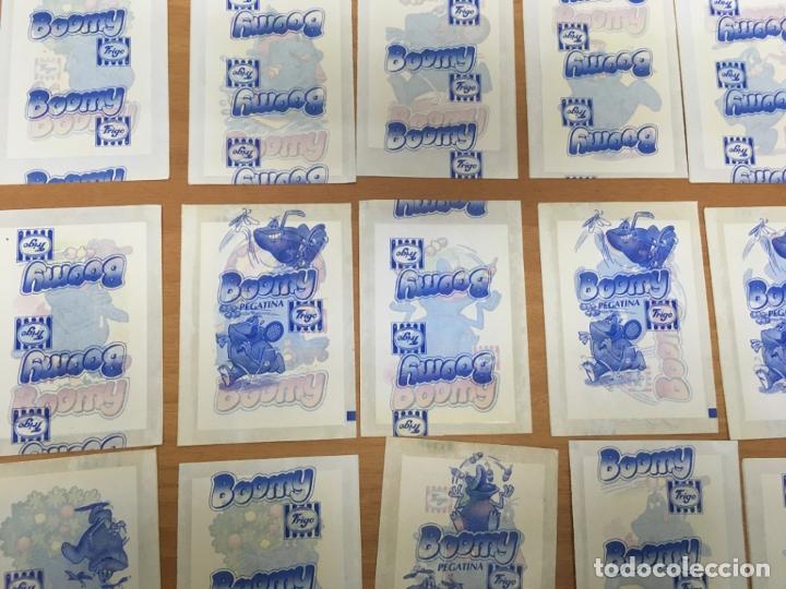 Coleccionismo Cromos antiguos: lote 19 sobres cerrados con premiun pegatina Boomy de helados Frigo - Foto 2 - 182020338